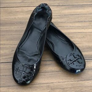 Tory Burch Logo Patent Leather Flats